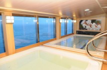 The Izumi Japanese spa on the Diamond Princess Cruise Ship