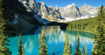natural scenery of the Rocky Mountains in Canada