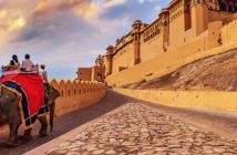 Amer Fort in Jaipur, India of the Golden Triangle