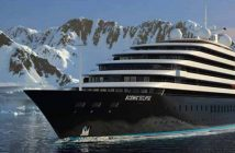 Scenic Eclipse cruise ship yacht in Antarctica
