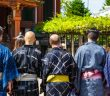 foreigners wearing Japanese Yukata