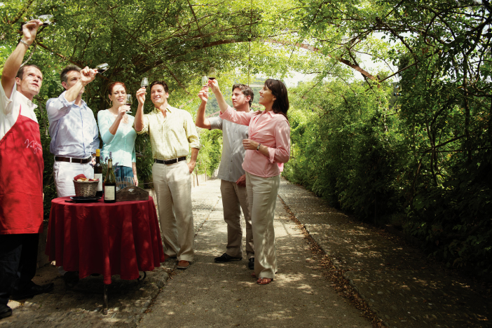 cruise passengers on a wine excursion