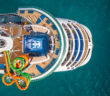 Royal Caribbean cruise ship aerial view